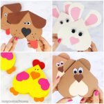 Heart Animals Valentines Day Cards for Kids