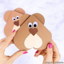 Heart Bear Craft – Valentines Day Card Idea