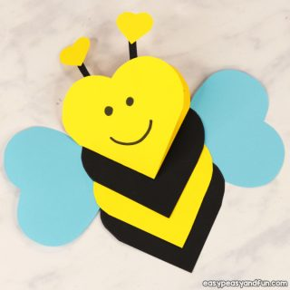 Heart Bee Craft Idea for Kids