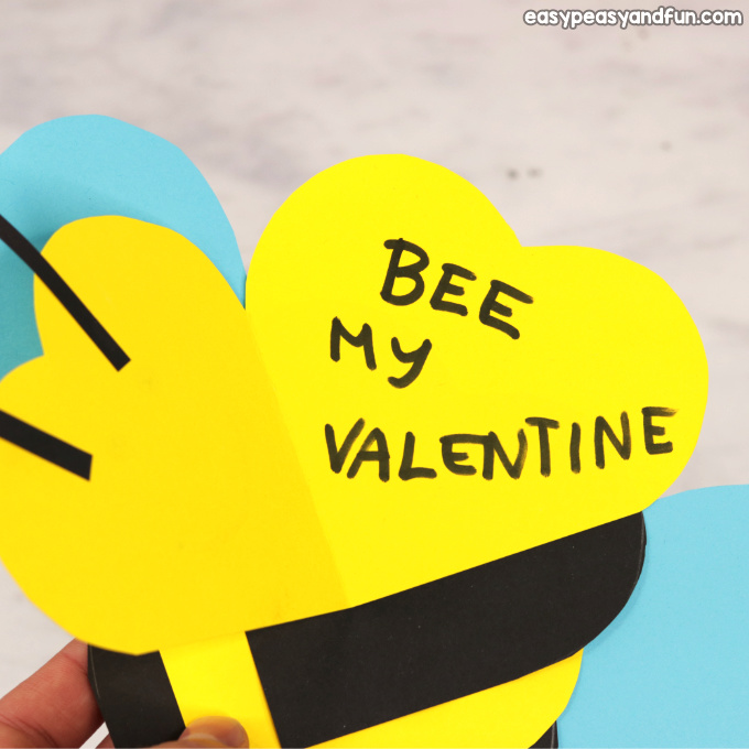 Heart Bee Craft Idea