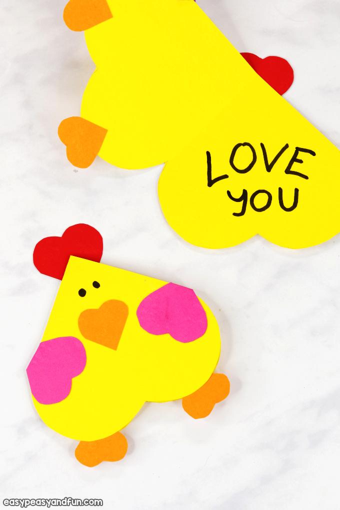 Heart Chicken Craft