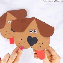 Heart Dog Craft – DIY Valentine's Day Card Idea