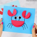 Paper Circle Crab Craft