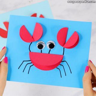 Paper Circle Crab Craft