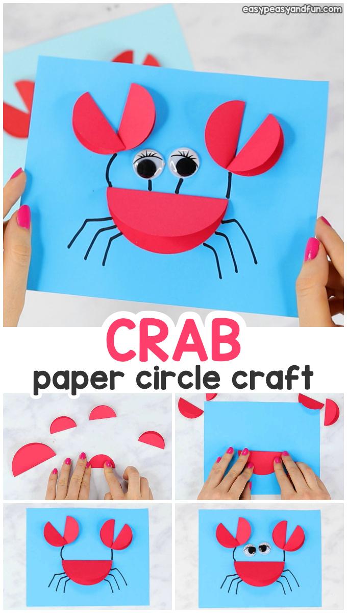 Paper Circle Crab Craft for Kids