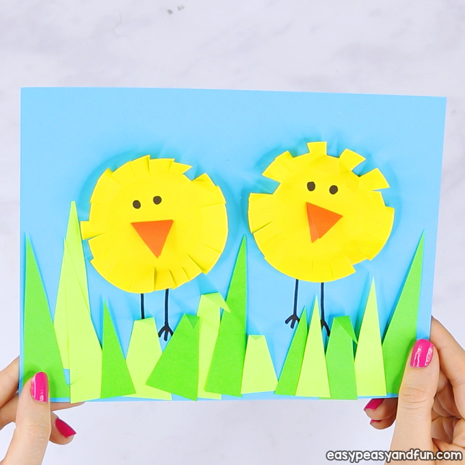 Paper Circle Easter Chick Craft
