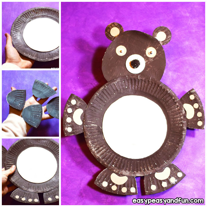 Paper Plate Bear Craft Idea