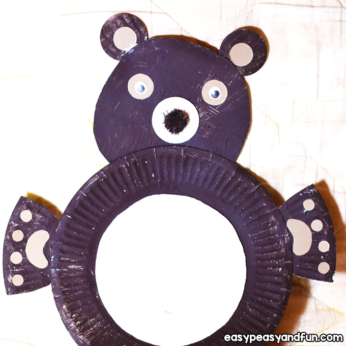 Paper Plate Bear Craft for Kids