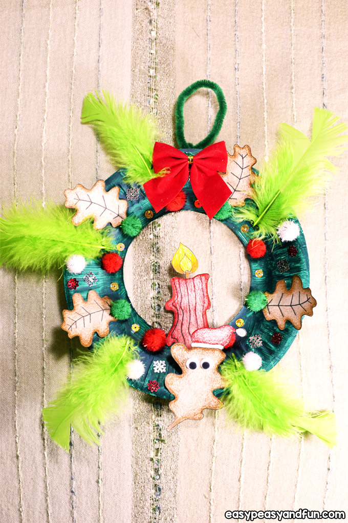 Paper Plate Christmas Wreath Craft for Kids to Make