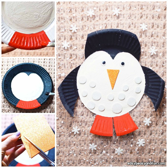 Paper Plate Penguin Craft Idea