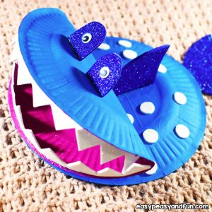 Paper Plate Shark Craft for Kids