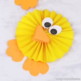 Paper Rosette Chick Craft for Kids