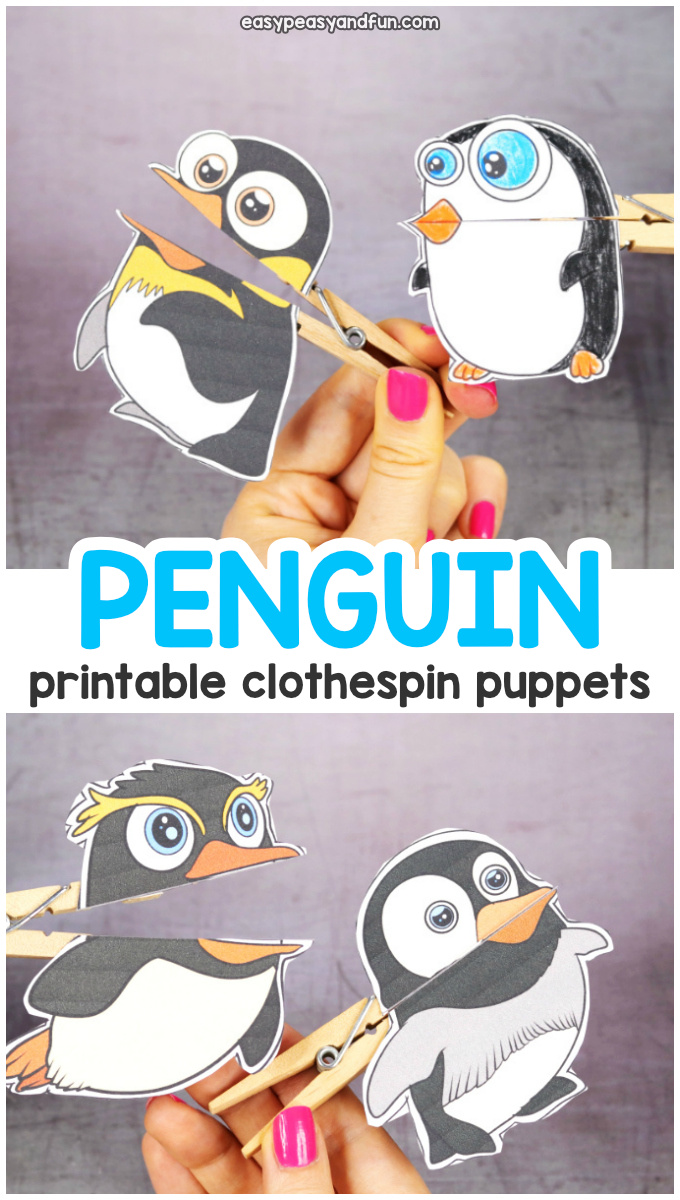 Printable Clothespin Puppets for Kids