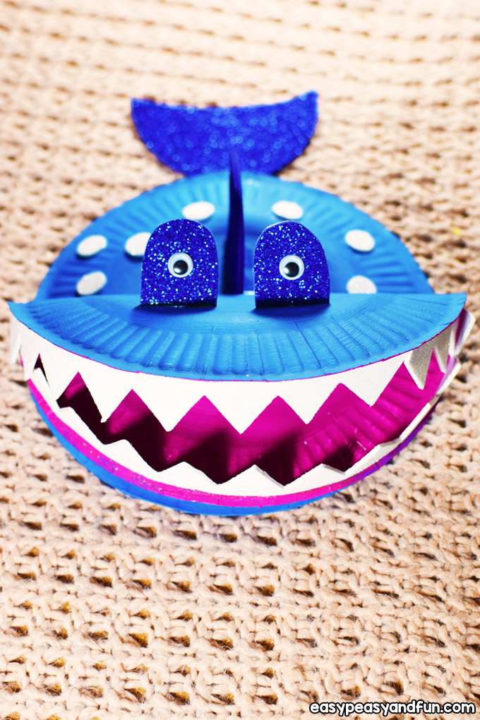 Simple Paper Plate Shark Craft for Kids