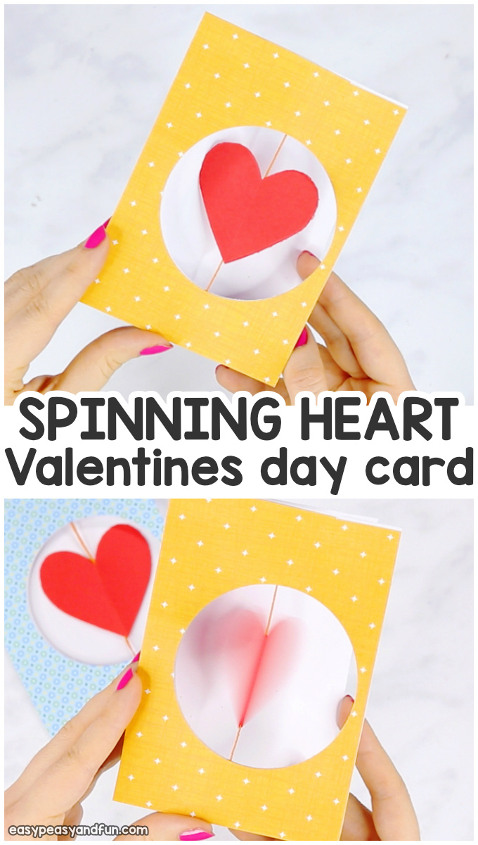 Spinning Heart Valentines Day Card for KIds