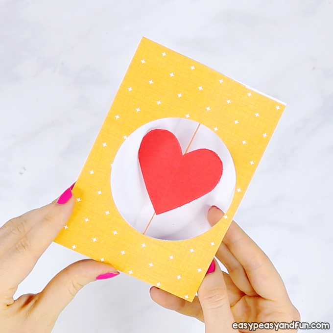 Spinning Heart Valentines Day Card