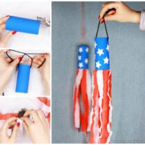 4th Of July Windsock Toilet Paper Roll Craft