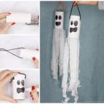 Ghost Windsock Toilet Paper Roll Craft for Kids