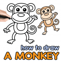How to Draw a Monkey – Step by Step Drawing Guide