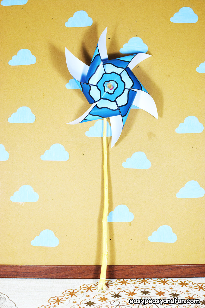 Paper Pinwheels for Kids to Make