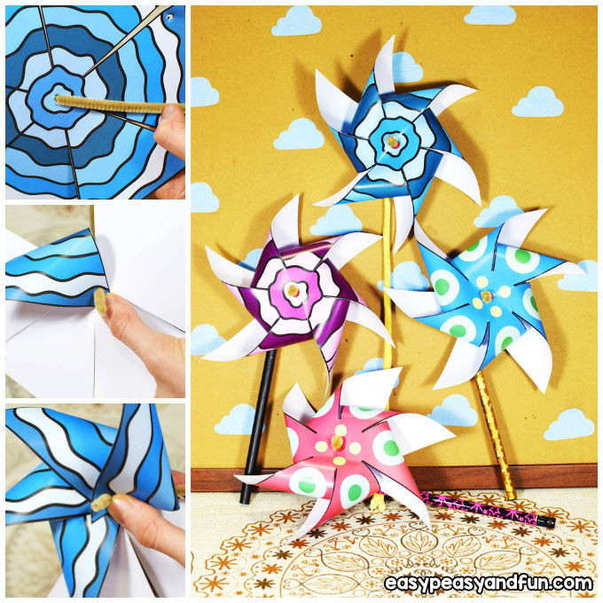 Paper Pinwheels Craft Idea