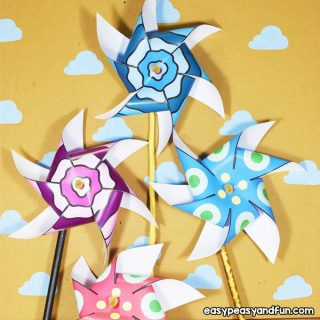 Paper Pinwheels for Kids to Make
