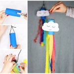 Rainbow Windsock Toilet Paper Roll Craft for Kids