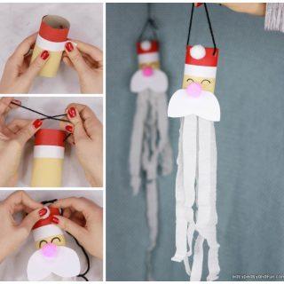Santa Windsock Toilet Paper Roll Craft for Kids
