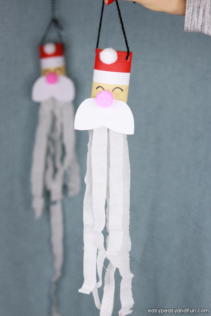 Santa Windsock Toilet Paper Roll Craft