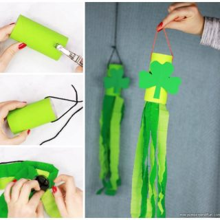 St. Patrick's Day Windsock Toilet Paper Roll Craft for Kids