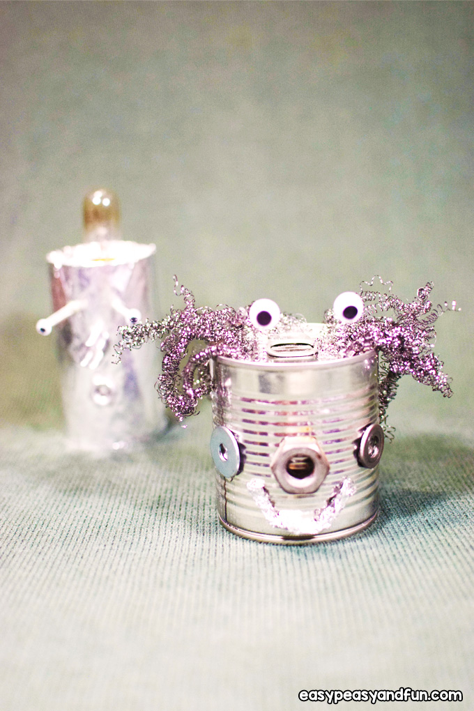 Tin Can Robots Craft for Kids