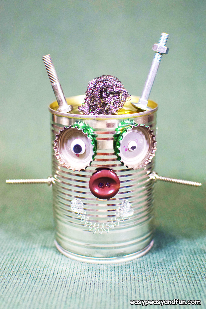 Tin Can Robot Craft for Kids