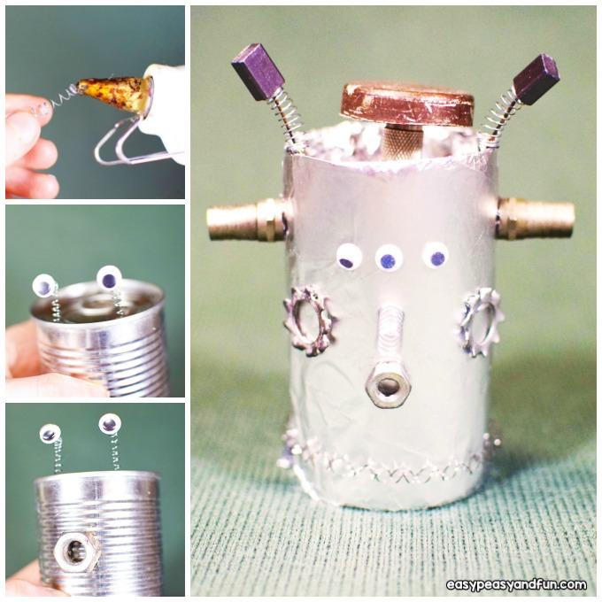 Tin Can Robots Craft Idea