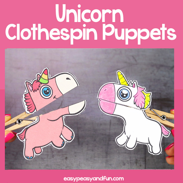 Unicorn Clothespin Puppets - Easy Peasy and Fun