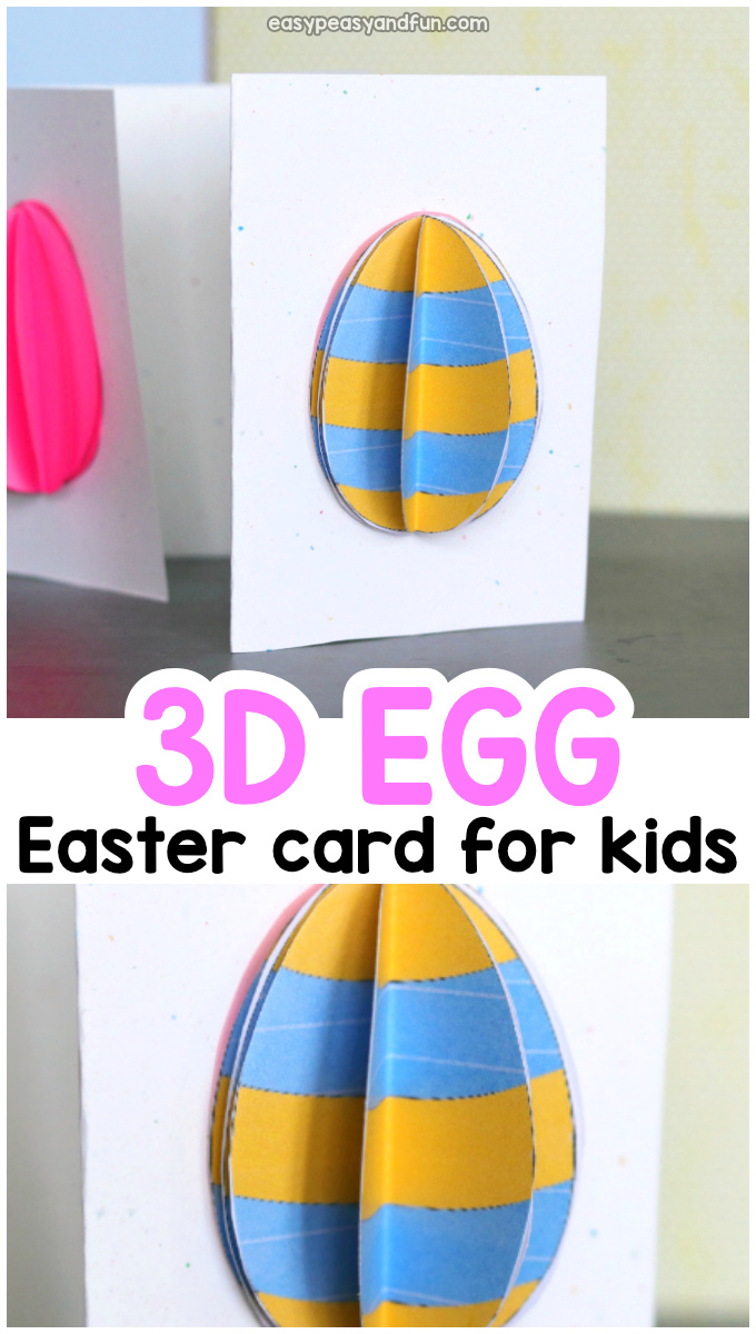 3D Easte Egg Card Idea for Kids to Make