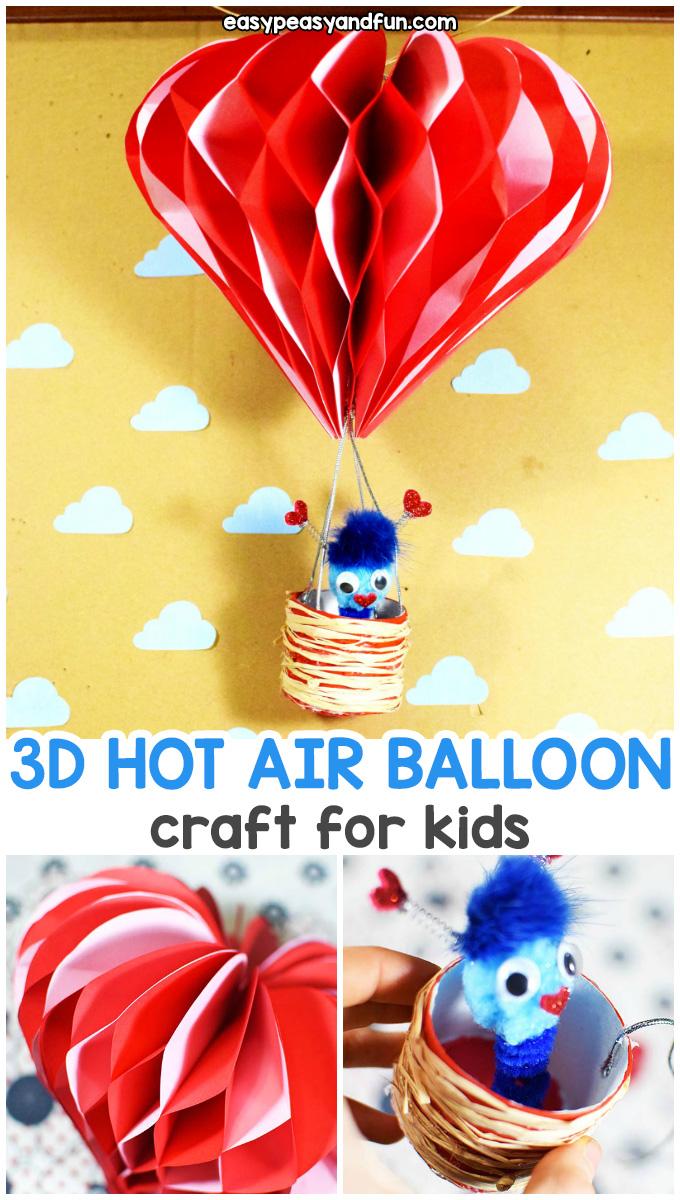 3D Hot Air Balloon Craft