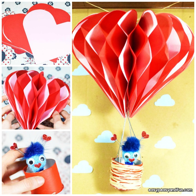 3D Hot Air Balloon Craft for Kids to Make