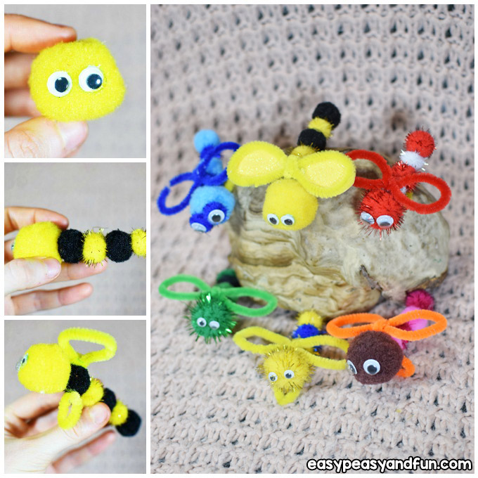 Bug Pipe Cleaner Craft Idea