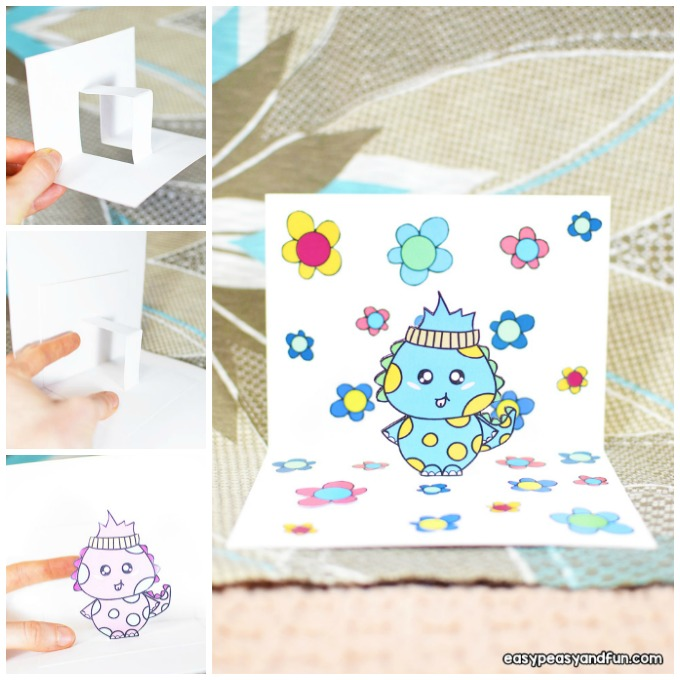 Dino Pop Up Card Craft Idea