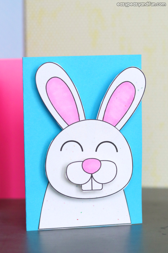 Easter Bunny Card Idea for Kids to Make