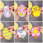 Easter Egg Paper Toy for Kids