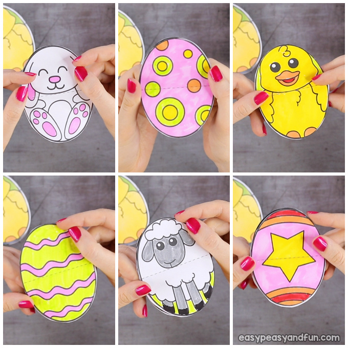 Printable Easter Egg Paper Toy - Easy Peasy and Fun