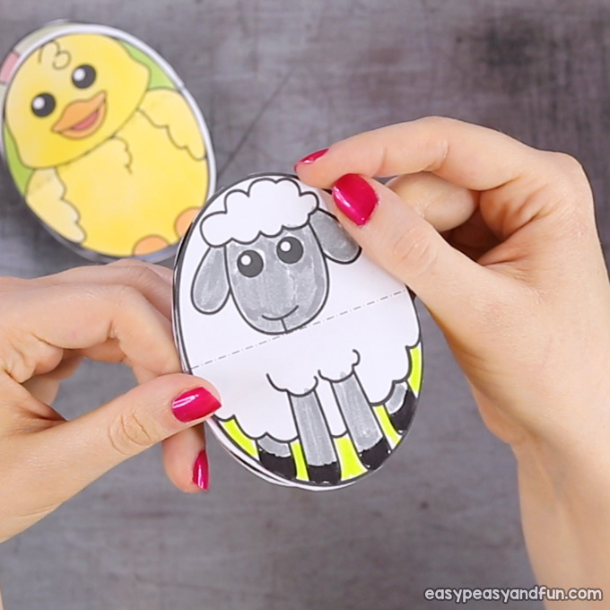 Easter Egg Sheep Paper Toy