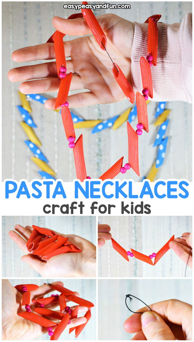 How to Make Pasta Necklaces - a fun activity for kids