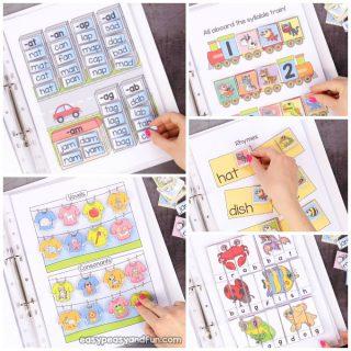 Kindergarten Language Arts Quiet Book