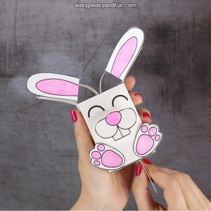 Movable Ears Bunny Craft for Kids