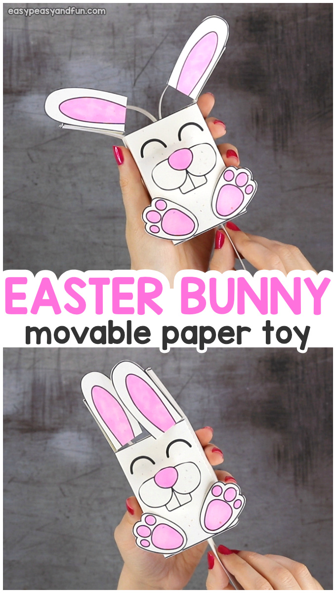 Movable Ears Bunny Easter Craft for Kids