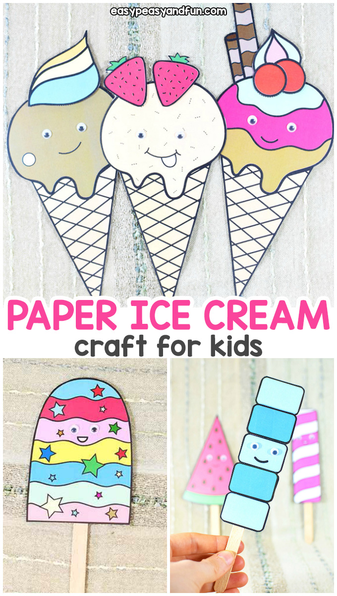 Paper Ice Cream Craft