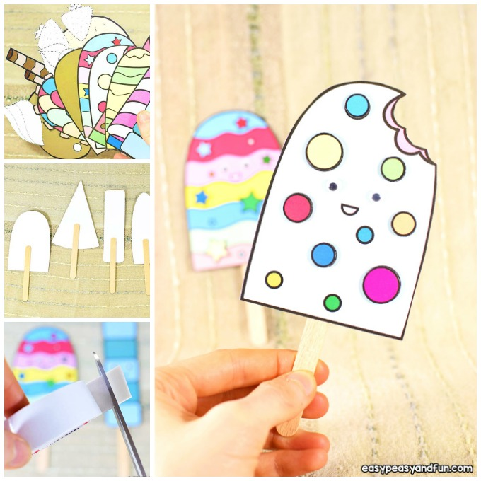 Paper Ice Cream Craft Idea