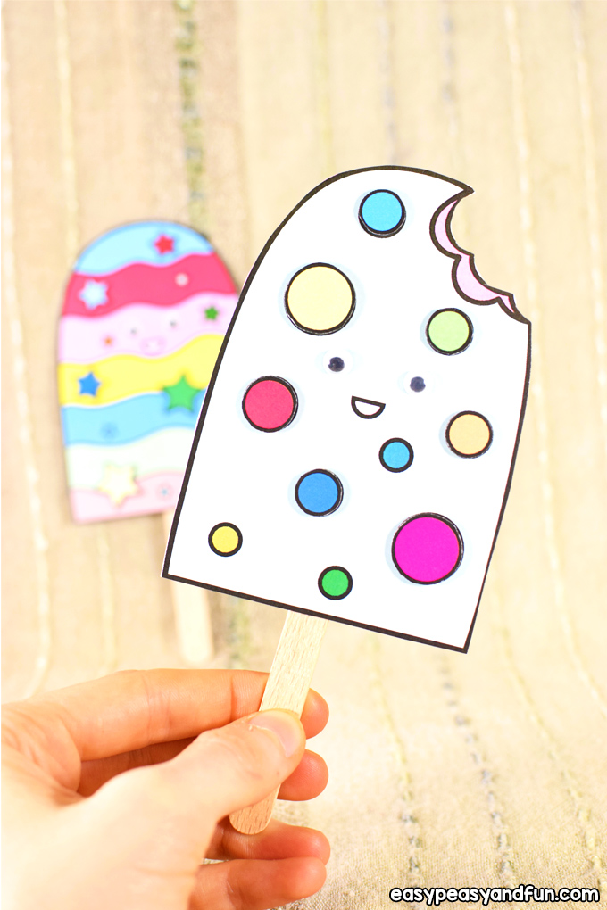 Paper Ice Cream Craft for Kids